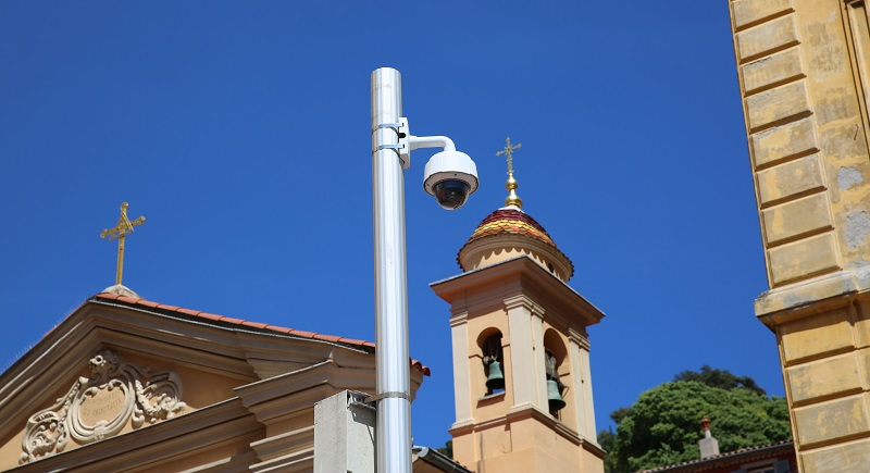 Security Camera outside of a church