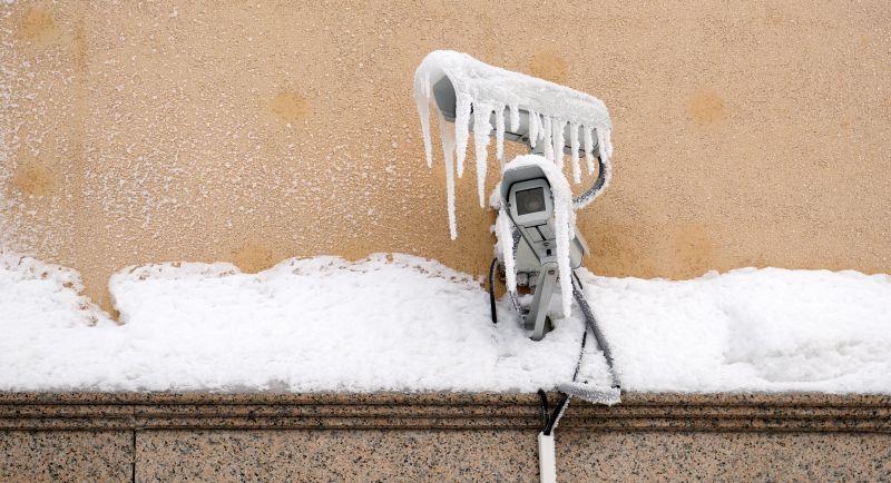 Frozen video security equipment