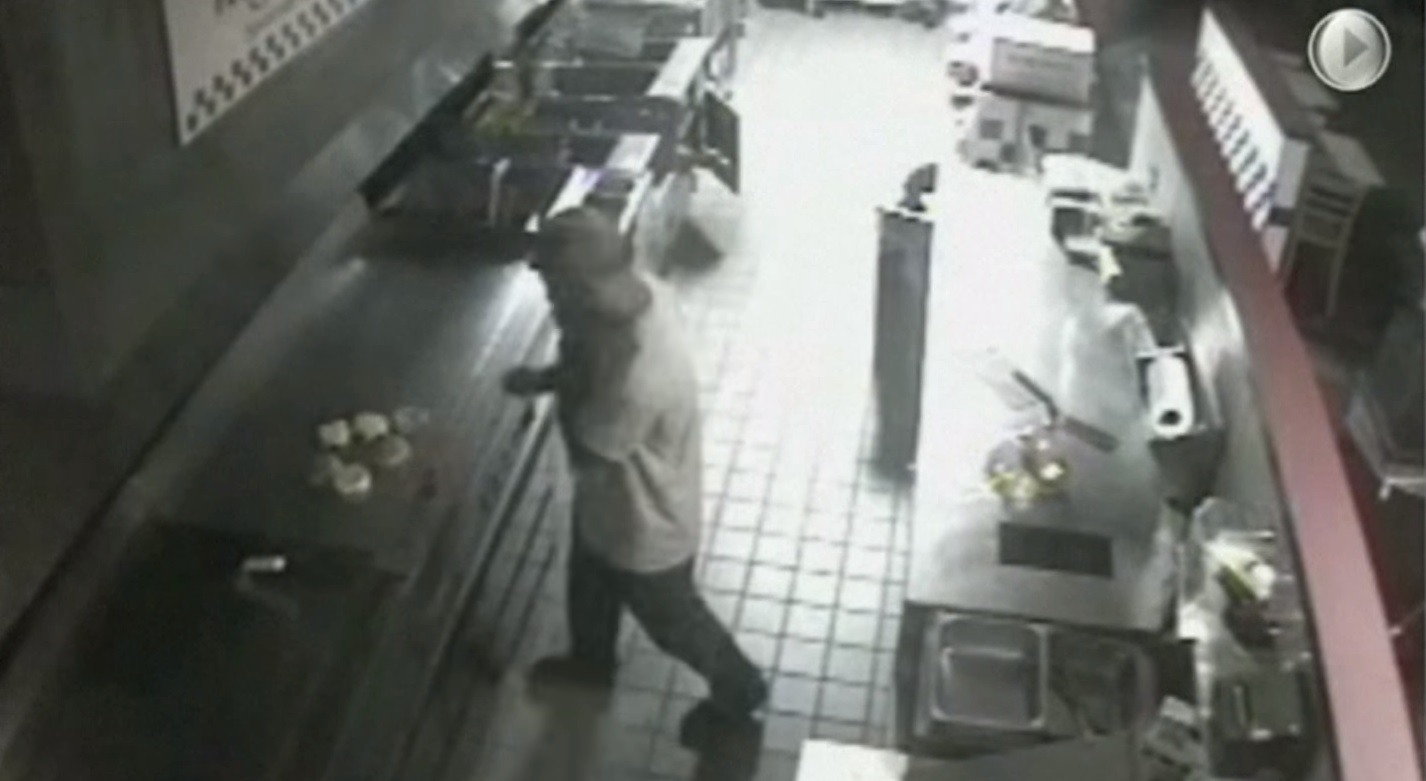 Man Caught On Security Camera Breaking Into Restaurant To Steal……Cheeseburgers!?