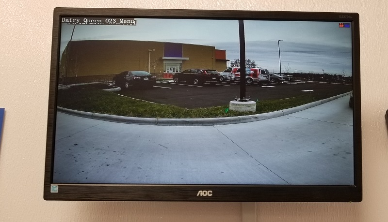 Video Recorder viewing parking lot camera