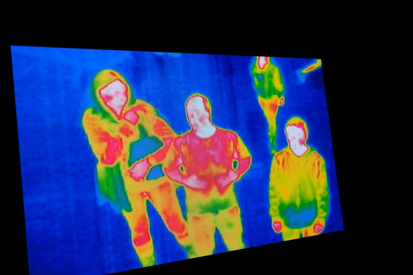 photo of thermal image screen for background