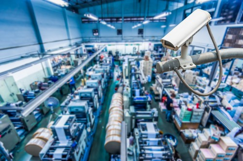 manufacturing facility security camera