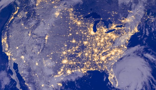 the united states of america from space