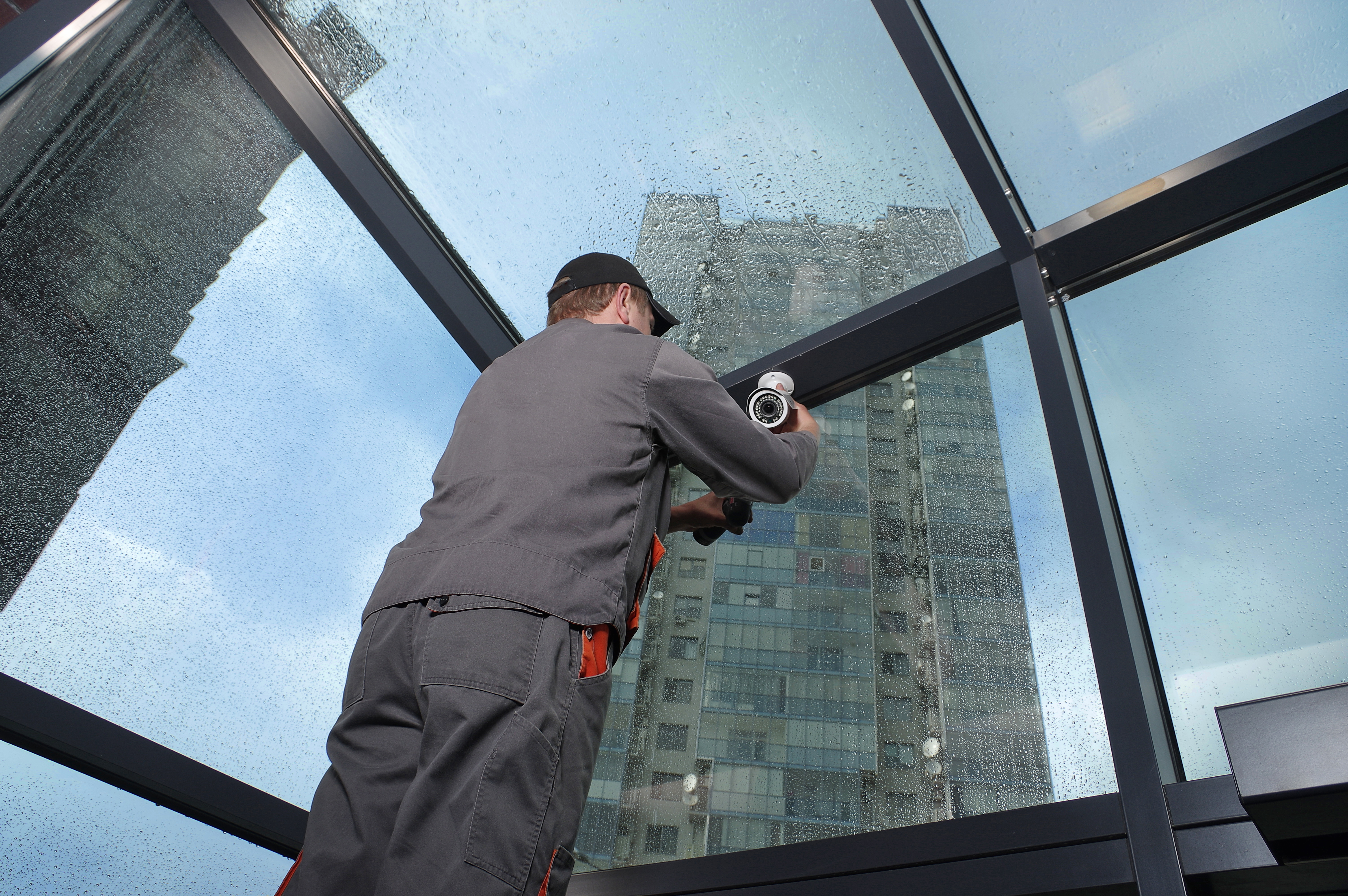 Installing a security camera system in the city