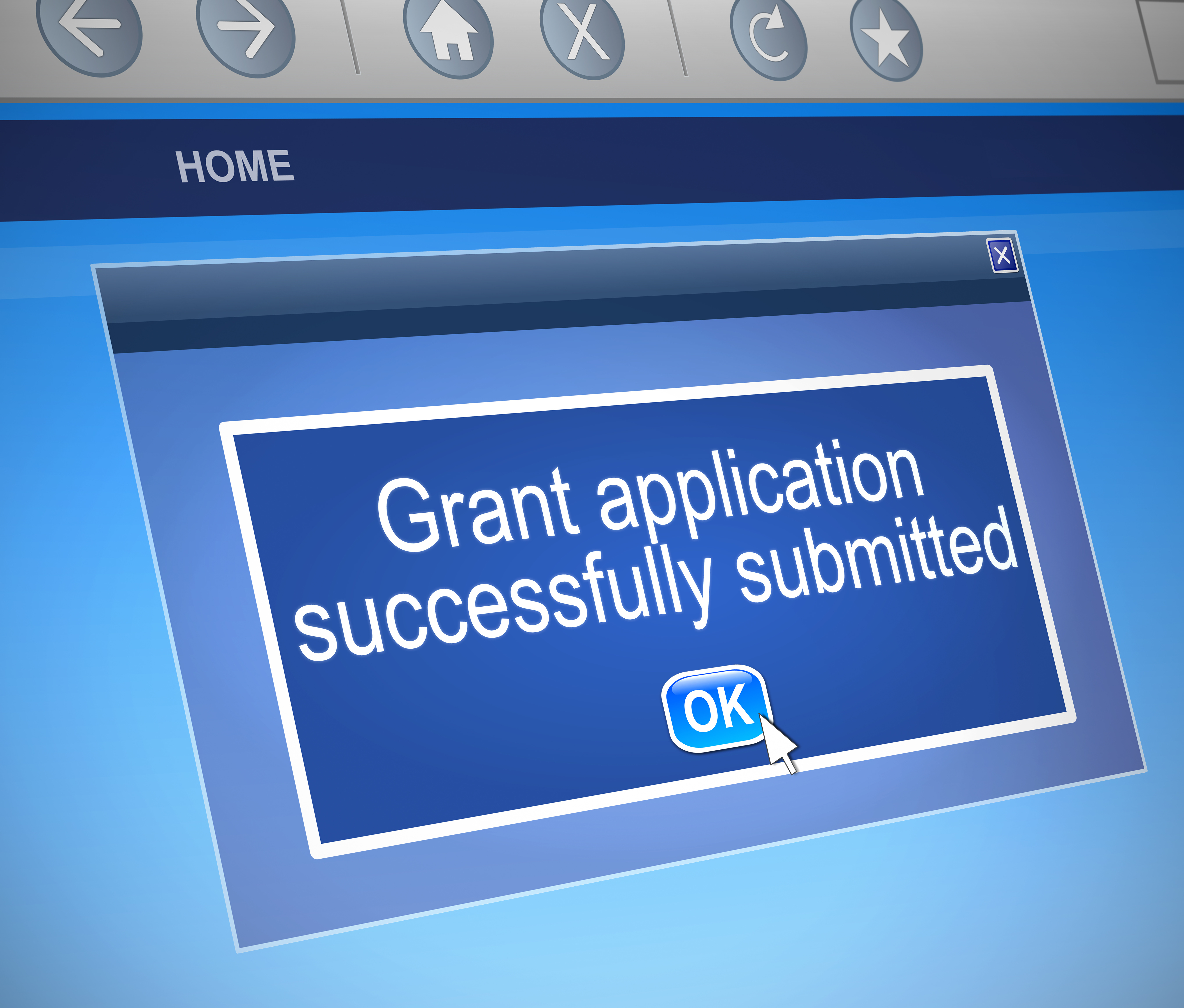 Submit an application for a grant