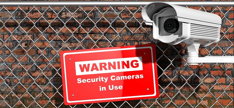 Warning: Security cameras in use