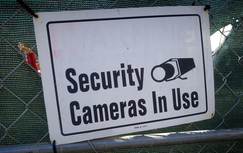 Cámaras de seguridad en señal de uso