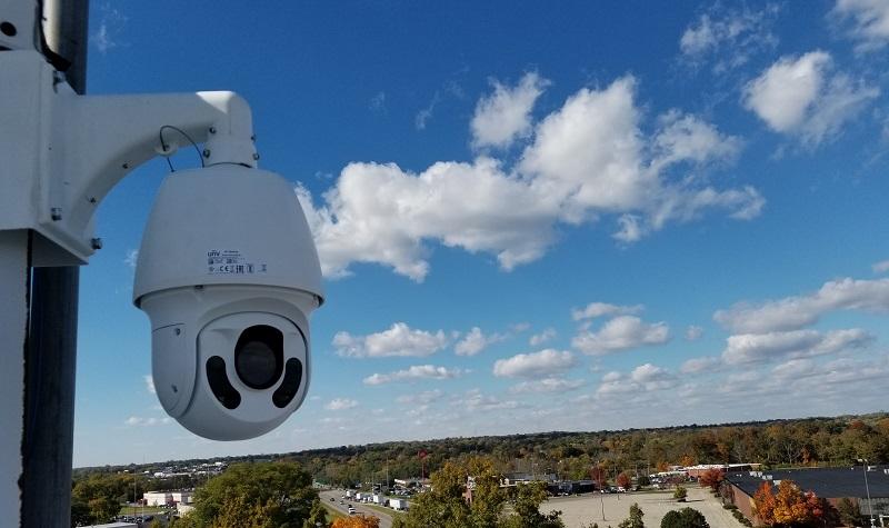 cámara de vigilancia con zoom pan tilt