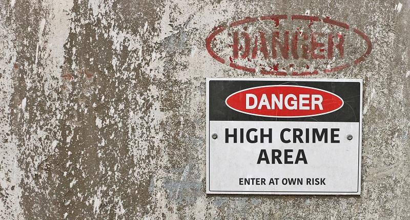 Áreas de alta criminalidad