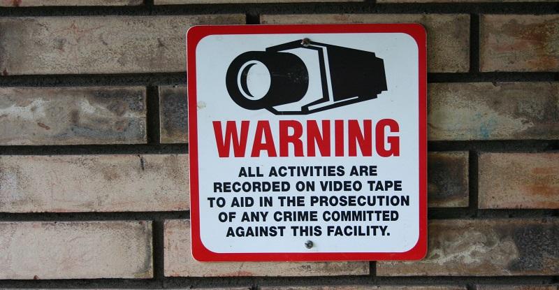 grabación de advertencia en curso