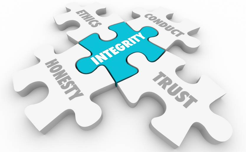 Integrity exemplified as a central puzzle piece
