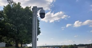 Pan tilt zoom security camera in Middletown Ohio near I-75