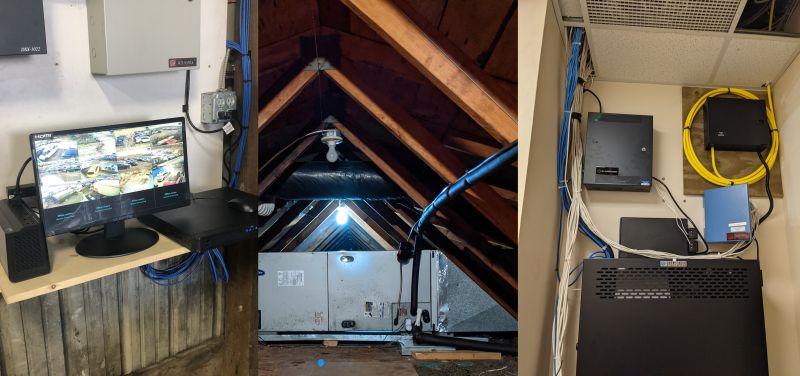 3 recent cabling jobs