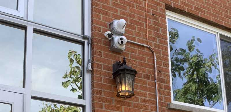 Turret and bullet security cameras