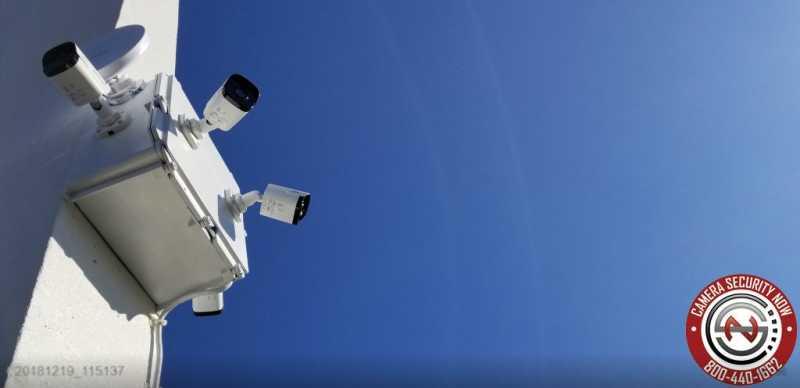Fixed bullet weatherproof security cameras