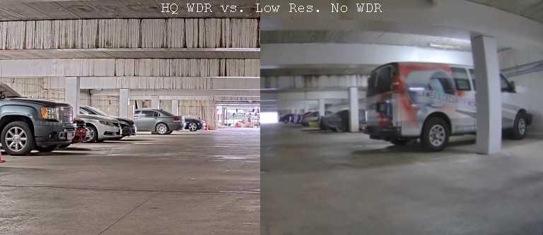 WDR security cameras